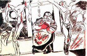 Caricature antisémite de Ralph Soupault, parue dans Au Pilori, n°12, (27 septembre 1940)