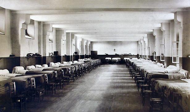 L'un des dortoirs du dépôt de mendicité de Villers-Cotterêts.