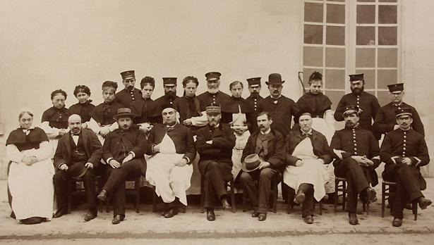Personnel du dépôt de mendicité de Villers-Cotterêts.