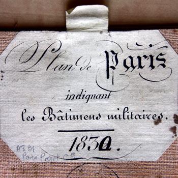 Plan de Paris indiquant les Bâtiments militaires - 1830. SHD-DAT, 1 VH 1334