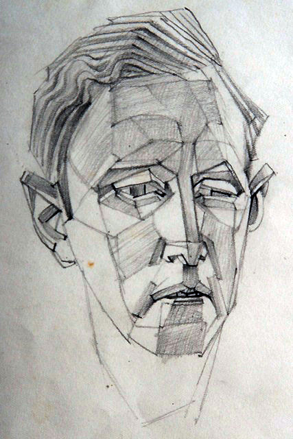 Portrait de Ferdinand Springer par Hans Bellmer, 1940.