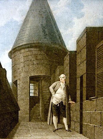 Louis XVI à la Tour du Temple, Jean-François Garneray, 1792.