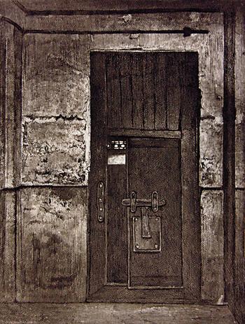 Porte de la prison de la Reine à la Conciergerie, 1793.