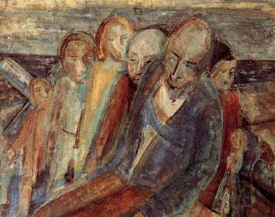 Les Naufragés, huile sur toile d'Henry Gowa.