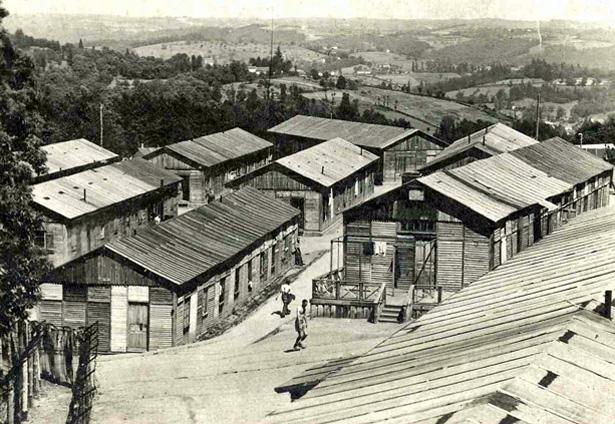 Tulle, guerre de 1939-1945 : camp de prisonniers allemands de la Trémouille [vers 1945-1946, collection MEHLER (Karl-Heinz), Mannheim.