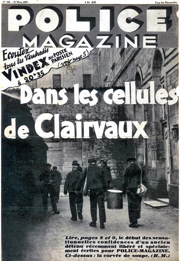 Police Magazine N° 330 du 21 mars 1937, coll. J. Tronel Première de couverture.