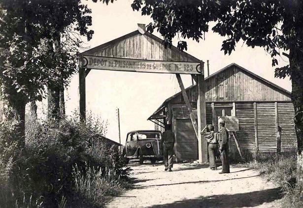 Tulle, guerre de 1939-1945 : camp de prisonniers allemands de la Trémouille [vers 1945-1946, collection MEHLER (Karl-Heinz), Mannheim .