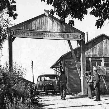 camp de prisonniers allemands de la Trémouille [vers 1945-1946, collection MEHLER (Karl-Heinz), Mannheim