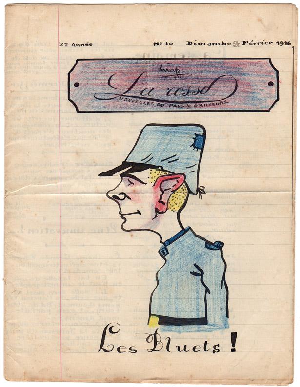 """Journal pour Poilus """"La Rosse"""" n° 9, 13 février 1916."""