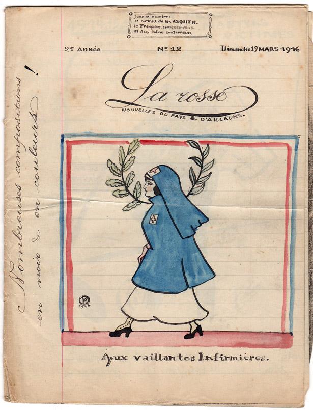 """Journal pour Polius """"La Rosse"""" n° 12, 19 mars 1916."""