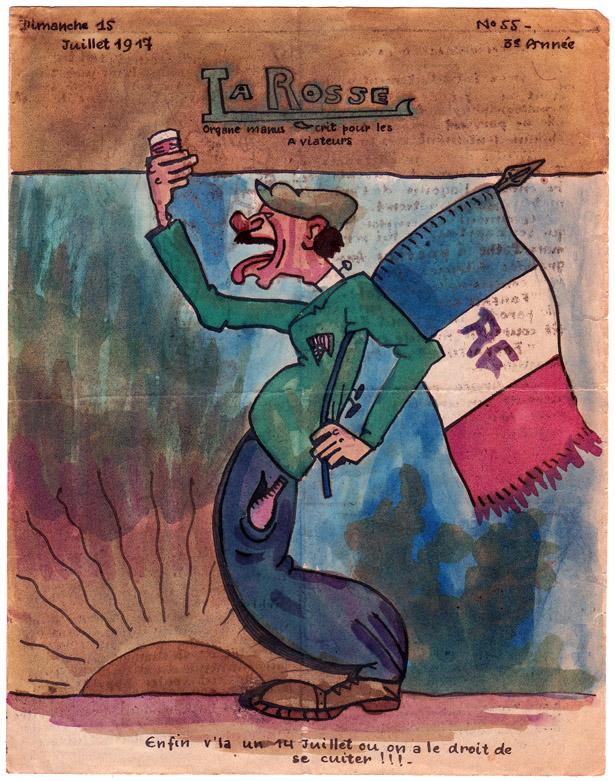 """Journal """"La Rosse"""" n° 55 du 15 juillet 1917. Collection Jacques Saraben."""