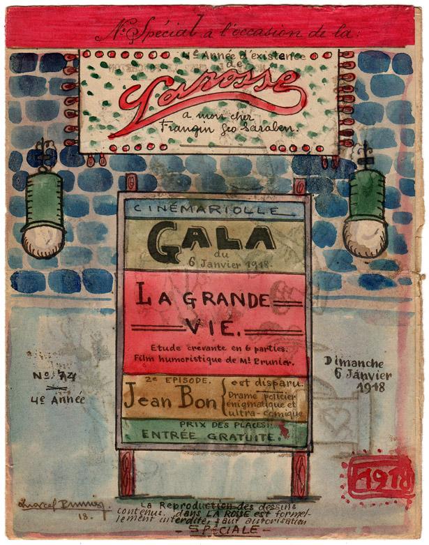 "Journal ""La Rosse"" n° 74 du 6 janvier 1918. Collection Jacques Saraben."