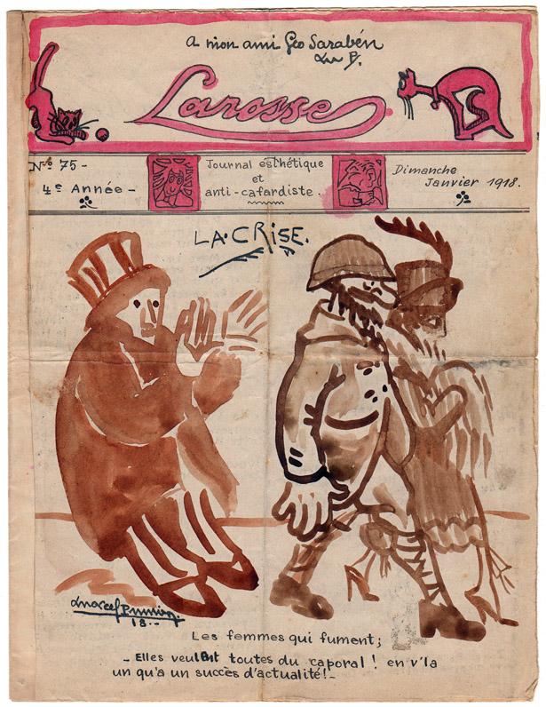 """Journal de poilus """"Larosse"""" n° 75 de janvier 1918. Coll. Jacques Saraben."""