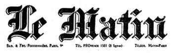 Logo du journal Le Matin en 1939