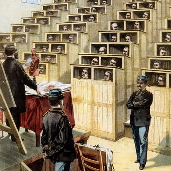 """Le Petit Parisien du dimanche 22 mars 1903. """"À la prison de Fresnes, une conférence contre l'alcoolisme""""."""