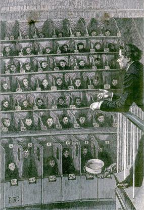 Un concert cellulaire organisé par les frères Lionnet à la Petite Roquette, L'Illustration du 11 juillet 1885