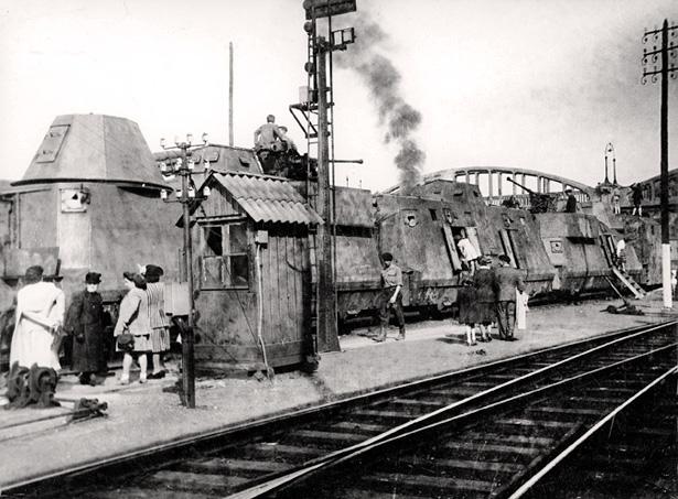 Le Panzerzug n° 32, train blindé allemand en gare de Bergerac, après la Libération