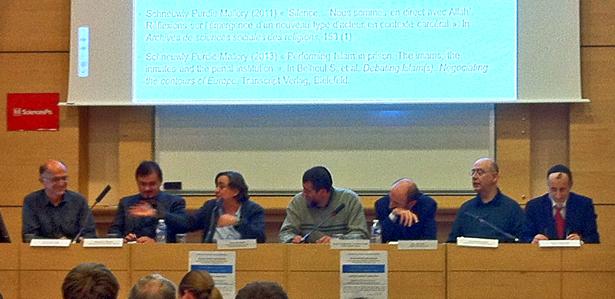 Table ronde en présence des aumôniers nationaux des prisons, Sciences Po, 28 octobre 2013.