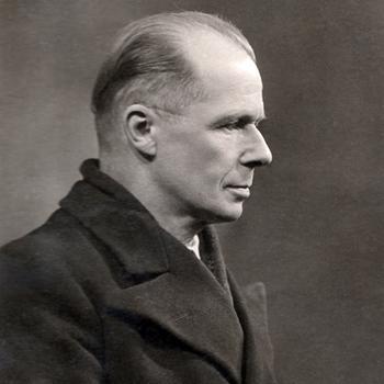 Léon Delarbre, artiste peintre, conservateur du musée de la ville de Belfort, résistant et ancien déporté. Photo coll. Jacques Saraben