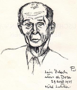 Léon Delarbre, Retour de Dora, 29 avril 1945, Hôtel Lutetia.