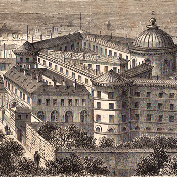 """""""Le Monde Illustré"""" du 8 juillet 1865, reportage sur prison de La Roquette."""