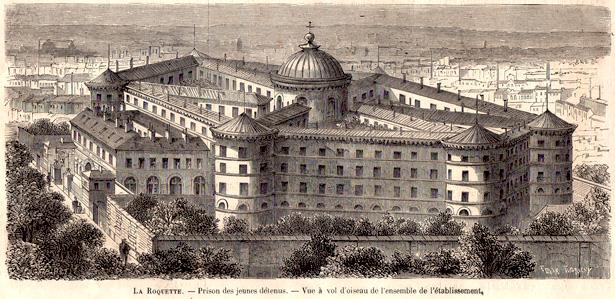 """""""Le Monde Illustré"""" N° 430 consacre en pages 23-26 de son édition du 8 juillet 1865 un article sur la prison pour jeunes détenus de la Petite Roquette."""