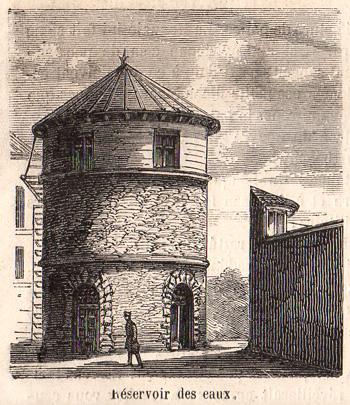 """""""Le Monde Illustré"""" du 8 juillet 1865 sur la prison pour jeunes détenus de la Petite Roquette. Réservoir des eaux."""