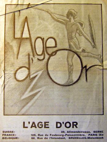 Publicité invitant à s'abonner au journal L'Age d'Or, années 1930…