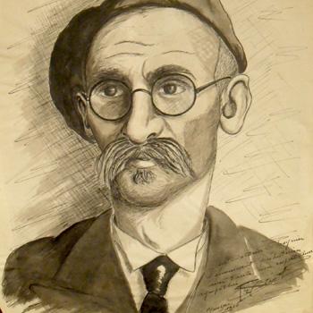 """Portrait du docteur André Cheynier, interné au """"camp de Mauzac"""" en 1945"""