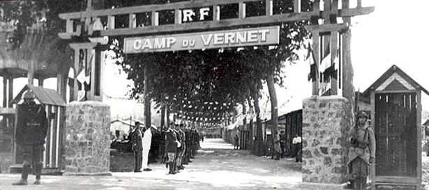 """Entrée du """"Camp de concentration"""" du Vernet d'Ariège, source ariegenews"""