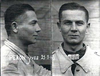 Photos anthropométriques du détenu Yves Péron, le 26 janvier 1943, prison militaire de Nontron