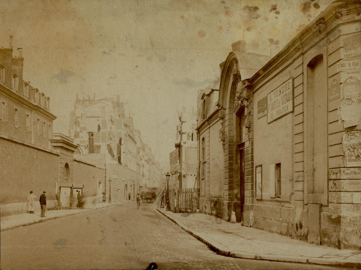 La d molition de l h tel des conseils de guerre lors de l ouverture du boulevard raspail - La cantine du troquet cherche midi ...