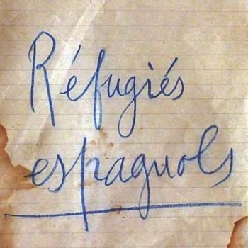 """Dossier """"Réfugiés espagnols"""" à la Mairie de Lalinde (Dordogne), 1939."""