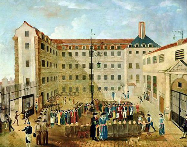 « Le ferrement des prisonniers à Bicêtre », huile de Louis Léopold Boilly, 1791, © Musée de l'Assistance Publique, Hôpitaux de Paris