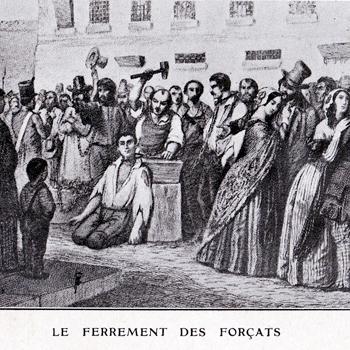 Le ferrement des forçats à la prison de Bicêtre