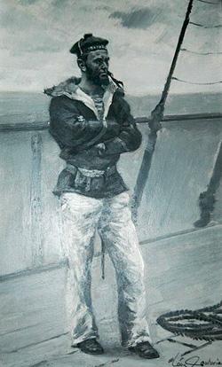 Marin du Bayard, Léon Couturier, peintre de la Marine