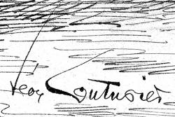 Signature du peintre Léon Couturier, vers 1920