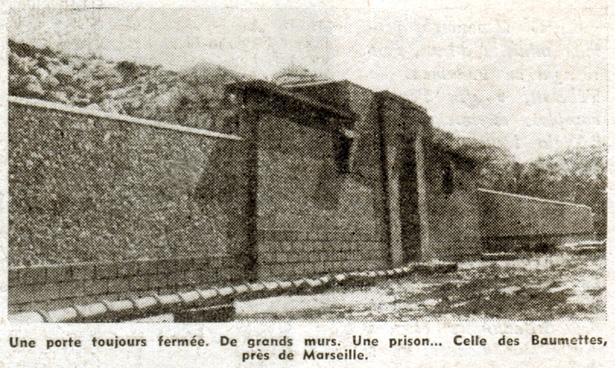 Le Pèlerin du 27 mai 1951, entrée de la prison des Baumettes, Guy Mauratille