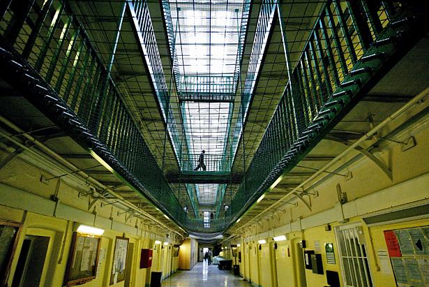 Intérieur de la prison de Pentonville, Angleterre,