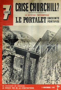 Dans son édition du 9 novembre 1941, le grand hebdomadaire d'actualités lyonnais, dirigé par Jean Prouvost, publie un article au titre évocateur : «Un reportage photographique : Le Portalet, enceinte fortifiée»…