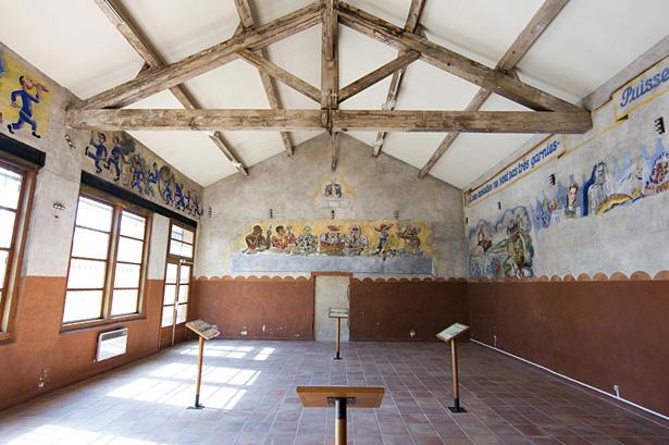 Le camp des Milles, salle des peintures, photo Mémorial du Camp des Milles