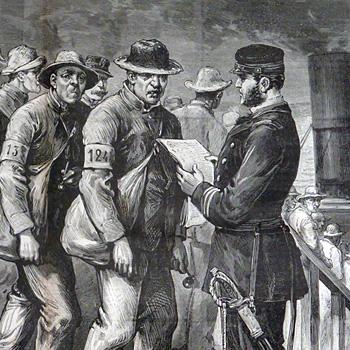Le Journal illustré du 28 novembre 1886 – N° 48 «Saint-Martin-de-Ré: l'embarquement des récidivistes en partance pour l'île des Pins»