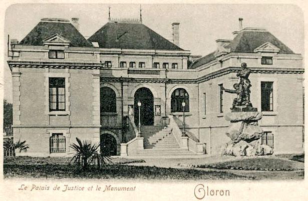 Tribunal d'Oloron Sainte-Marie, lieu de repli provisoire des Tribunaux militaires de Paris, coll. J. Tronel
