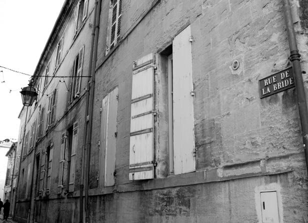 N° 4 rue de la Bride, entrée de l'Hôtel de la Tour Mataguerre, siège des tribunaux militaires de Paris, photo J. Tronel