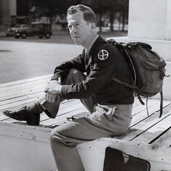 Gary Davis, citoyen du Monde se réfugie à Chaillot, Palais de l'ONU, le 12 septembre 1948