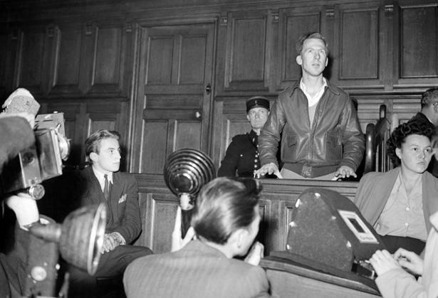 4 octobre 1949, Garry Davis, citoyen du Monde comparaissait en correctionnelle pour infraction a la loi sur les étrangers. Photo DR.