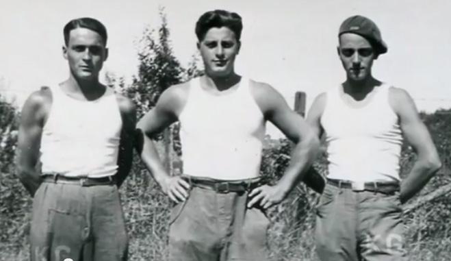 Jean Guillermo, prisonnier de guerre au stalag VC, à gauche sur la photo.