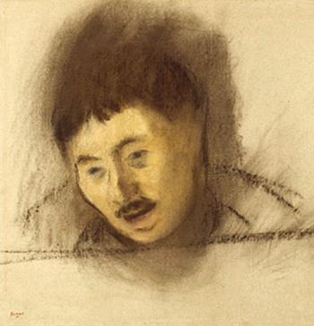 Émile Abadie, condamné à mort, gracié, transporté à la Nouvelle-Calédonie en 1881. Pastel Edgar Degas