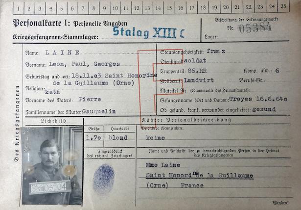 Léon Laine, prisonnier de guerre français déporté en Allemagne