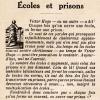 « Ouvrir une école, c'est fermer une prison », citation revisitée par le Pèlerin du 28 avril 1929